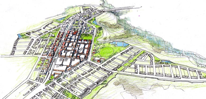 Proposed sketch of Molonglo Valley Urban Development, Canberra, ACT