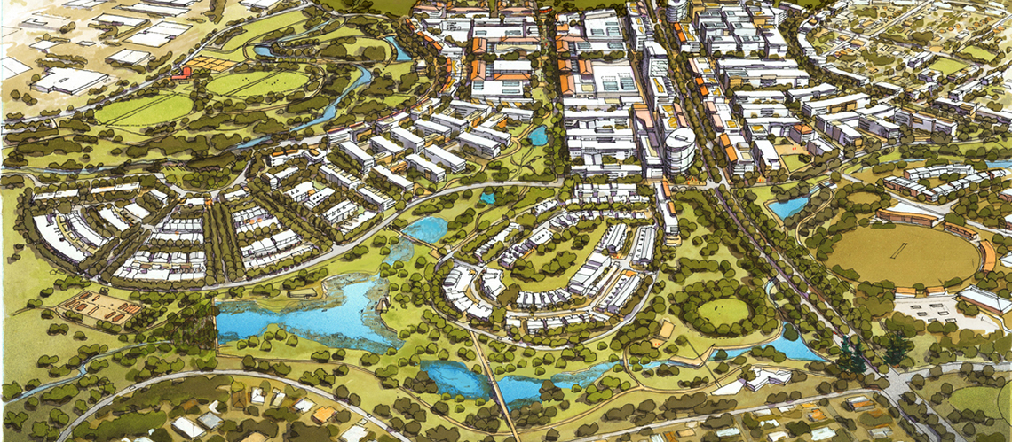 Ripley Valley Urban Core Context Plan, Ripley Valley, Queensland - A Urban Development project for Sekisui House Australia by Hames Sharley
