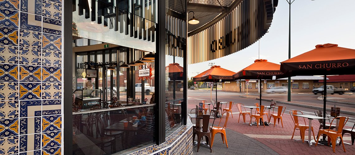 Cale Street Cafe, Midland Gate, Western Australia - A Retail & Town Centres project for Novion Property Group by Hames Sharley