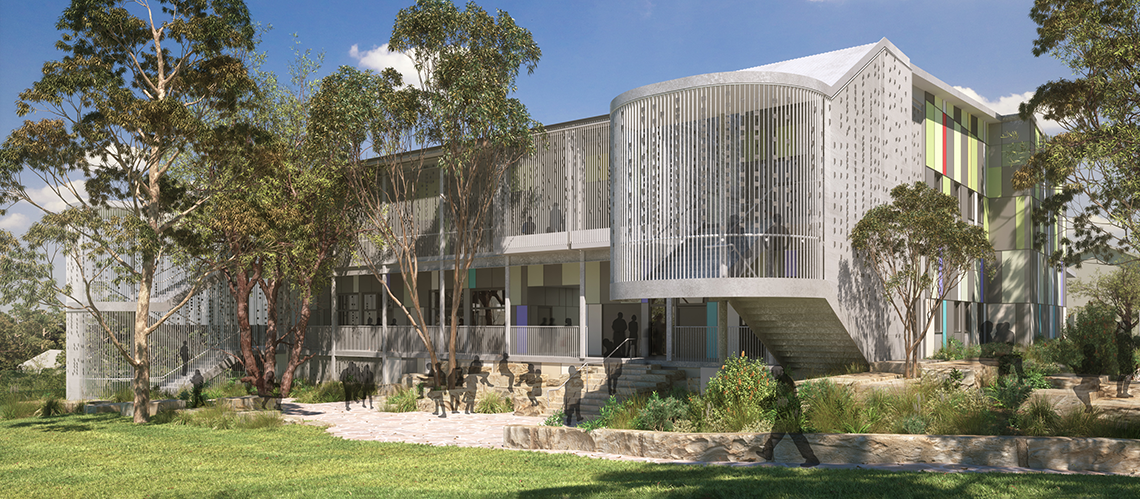 | Picnic Point High School upgrade, Picnic Point, New South Wales - A Education, Science & Research project for School Infrastructure New South Wales (SINSW) by Hames Sharley