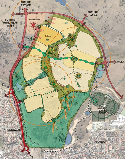 The development plan for moncrieff east estate, ACT
