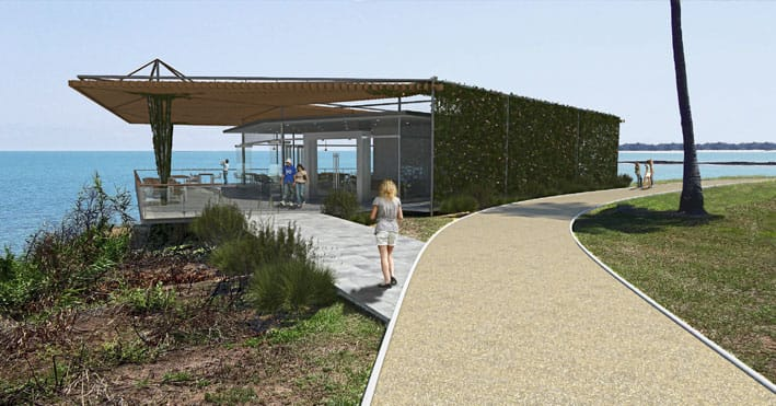 Artist's impression for the winning design of the Nightcliff Cafe/Restaurant
