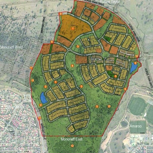 Urban Development Project - Moncrieff East Estate Development Plan, Moncrieff, Canberra by Hames Sharley