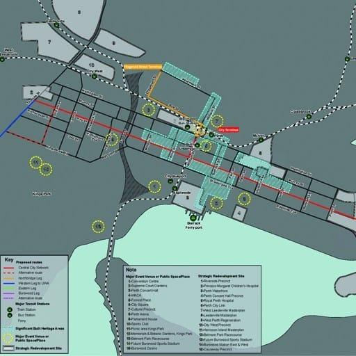 Urban Development Project - Perth Inner City Light Rail, Perth, Western Australia by Hames Sharley