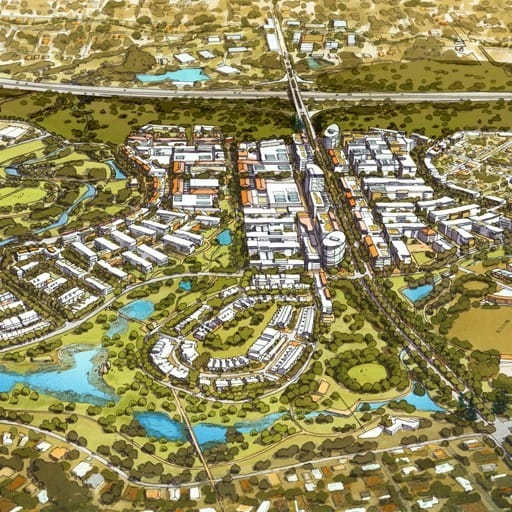 Hames Sharley's Urban Development project: Ripley Valley Urban Core Context Plan