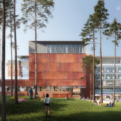 Education, Science & Research Project - TL Robertson Library Curtin University, Bentley, Western Australia by Hames Sharley