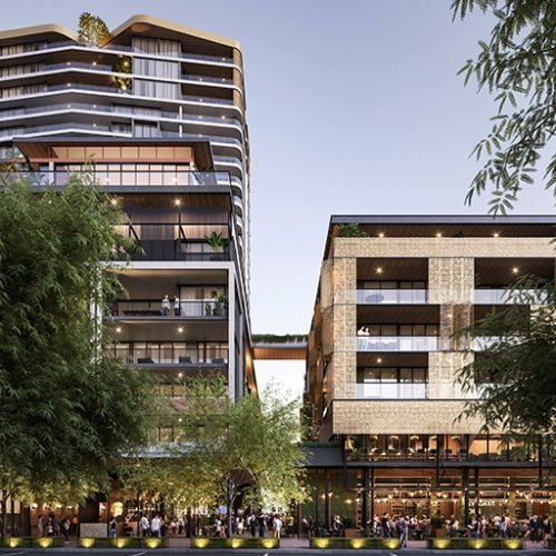 Residential Project - The Subiaco Pavilion Markets Site Rejuvenation - One Subiaco, Subiaco Western Australia by Hames Sharley