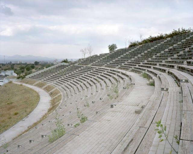 Deserted: Athens Olympics spectator stand, Helliniko Kayak Slalom Center