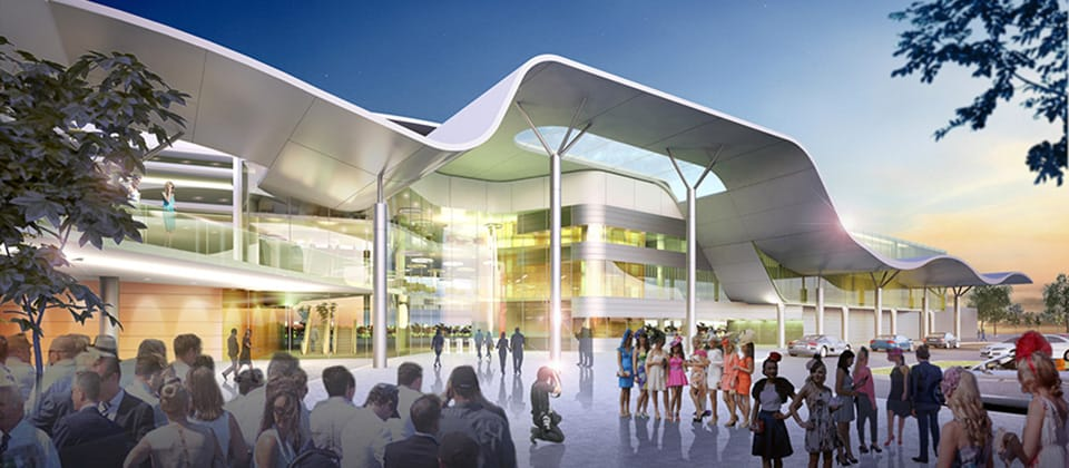Feature image for the article 'Perth's Belmont Park Grandstand plans revealed'
