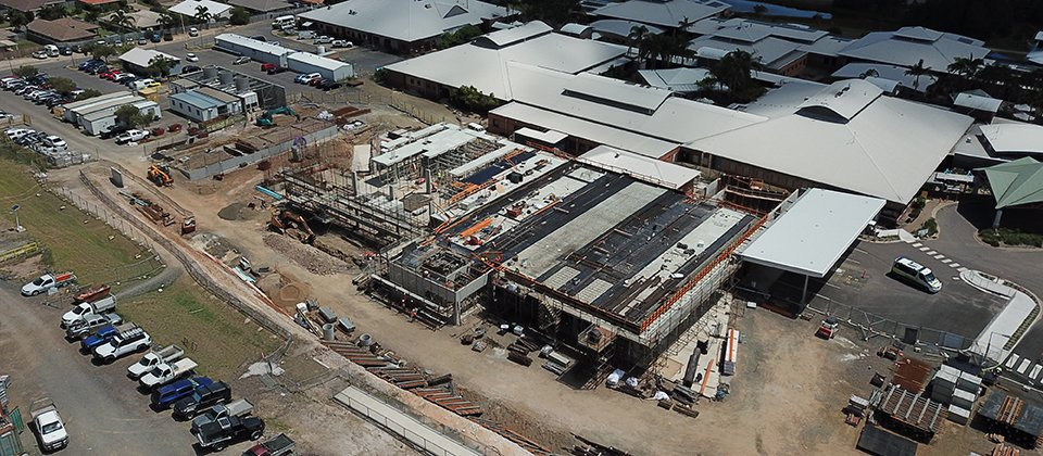 Feature image for the article 'Hervey Bay Hospital Emergency Department comes out of the ground'