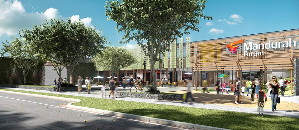 Feature image for the article 'Mandurah Forum Shopping Centre proceeds to construction phase'