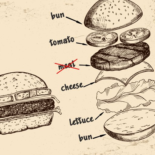 Thumbnail for the article 'More than just vegeburgers…' by Pete Kempshall