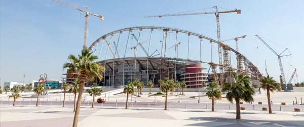 Khalifa Stadium in the Aspire Zone of Doha, Qatar