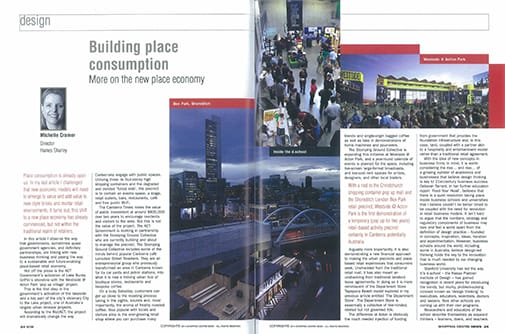 Spread from Shopping Centre News, pp. 24-26