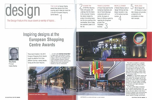 Spread from Shopping Centre News, pp. 10-12