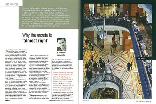 Spread from Shopping Centre News, pp. 46-48