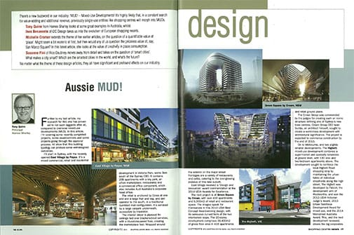 Spread from Shopping Centre News, pp. 16-19