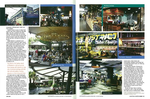Spread from Shopping Centre News, pp. 33-35
