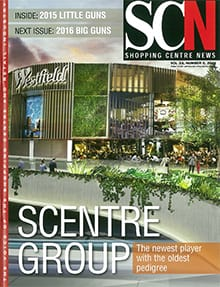 Cover of Shopping Centre News, from 30th November, 2015