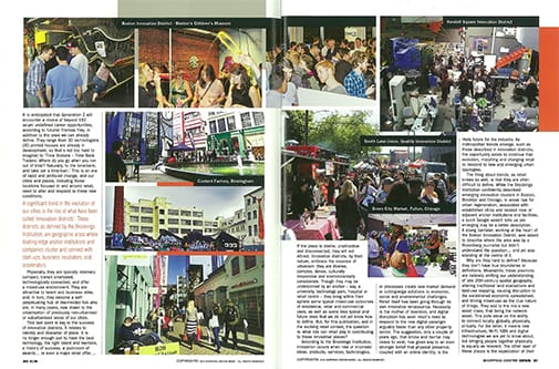 Spread from Shopping Centre News, pp. 29-32