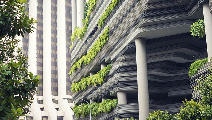 An example of biophilic architecture in Singapore