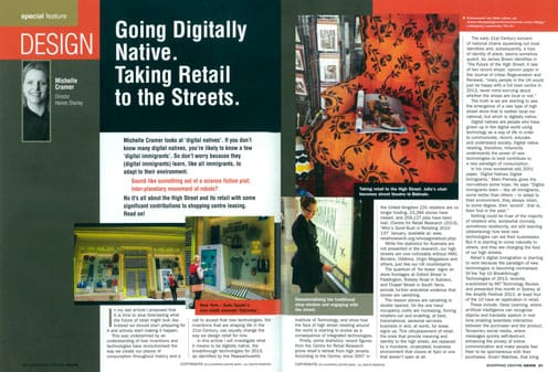 Spread from Shopping Centre News, pp. 20-22