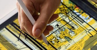 Feature image for the article 'Is it love? Architects meet the Apple Pencil' by Claire Stewart