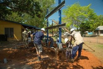 Feature image for the article 'Architecture students build facilities in remote Indigenous communities'