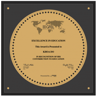 Thumbnail for the article 'Khoa Do Receives Global Excellence in Education Award'