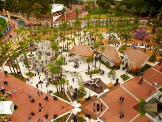 Feature image for the article 'A model for a new era of recreation: Darling Quarter playground'