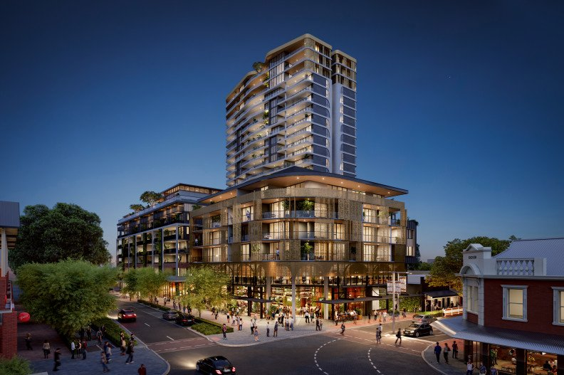 Rendering of One Subiaco residential development