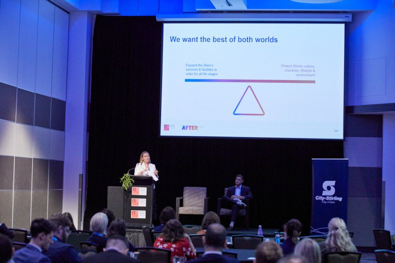 Rebecca Spencer and Naden Scarfone presenting at the PIA WA State Conference in November last year.