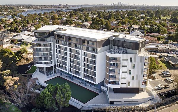 Australis at Rossmoyne Waters - aerial view