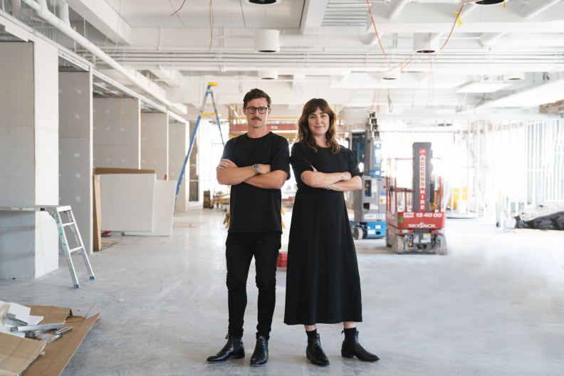 Interior Architect Ben Fetherstonhaugh and Senior Interior Designer Jessica Green