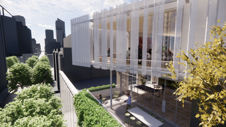 Render of Hames Sharley's new Studio in the Perth CBD