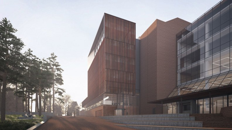 TR Robertson Library upgrade - The southern exterior of the building