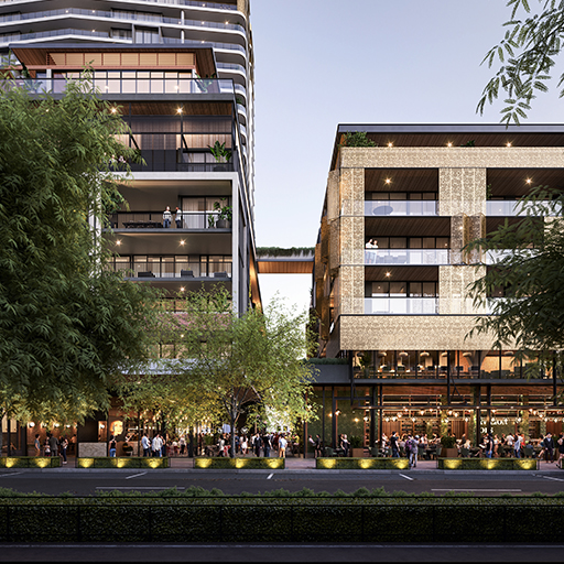 Rendering of the One Subiaco development
