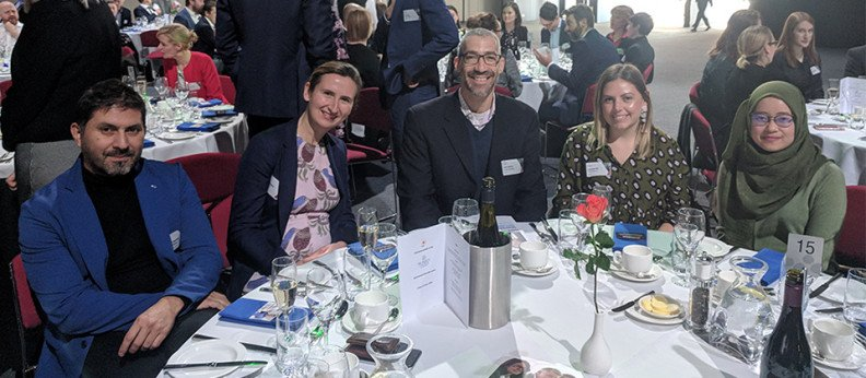 Hames Sharley's Roberto Garcia, Louisa Glennon, Jack Belfer, Elyse Neville and Ashmal Azim pictured at the PCA Diversity Lunch.