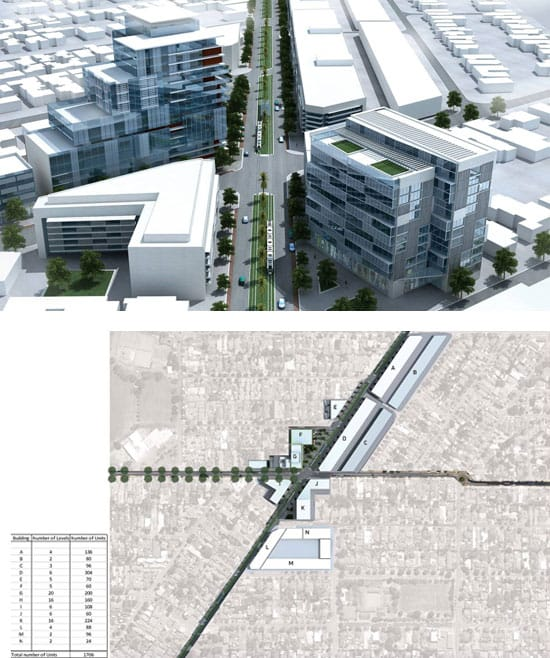 How the area around the Como Hotel could respond to a TOD