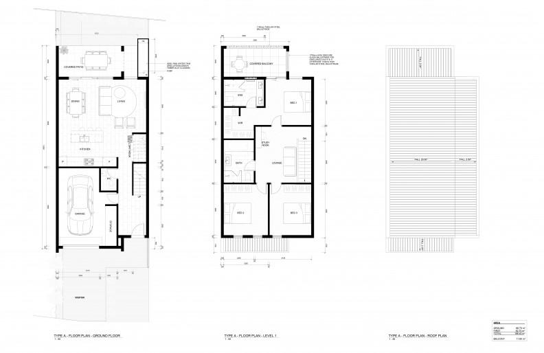 Floor plan of affordable housing development