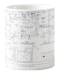 Architect Plans Coffee Mug, available on Zazzle