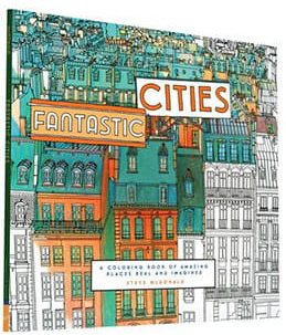 'Fantastic Cities' colouring book by Steve McDonald