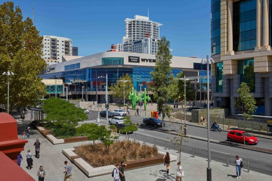 The Redeveloped Forrest Chase in the Perth CBD