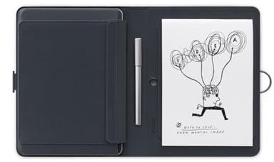 Folio with tablet and paper pad.
