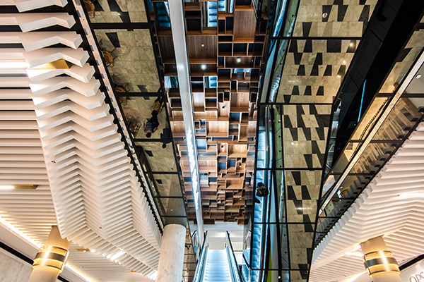 Feature ceiling design - Rundle Mall Plaza, Adelaide