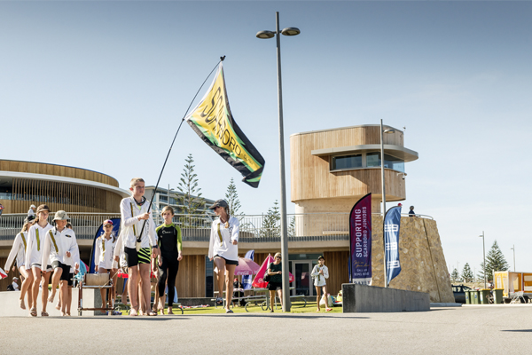 Scarborough Surf Life Saving Club kids and members