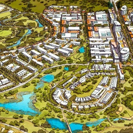 Click to learn more about Hames Sharley's Urban Development portfolio.